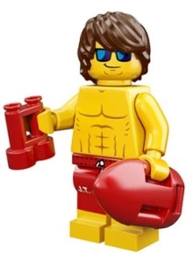 Lego Lego Minifigür - Seri 12 - 71007 - Lifeguard Renkli